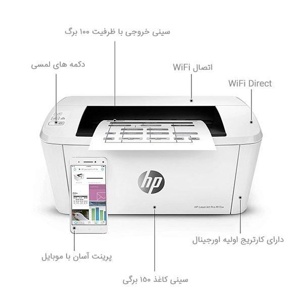 بررسی پرینتر لیزری اچ پی HP LaserJet Pro M15w Laser Printer