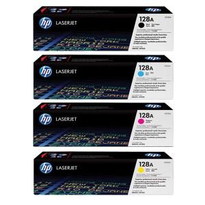 ست 4 رنگ کارتریج تونر لیزر رنگی  HP 128A