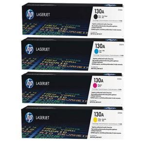 ست 4 رنگ کارتریج تونر لیزر رنگی  HP 130A