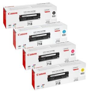 ست 4 رنگ کارتریج تونر لیزر رنگی  Canon 718